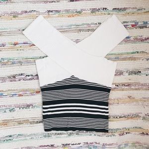 zara ribbed striped tank